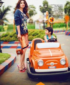 Twinkle Khanna in a photoshoot for the fashion glossy, Vogue.
