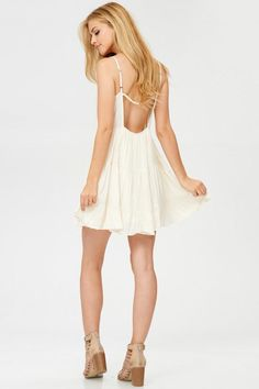 Solid Pleated Mini Dress