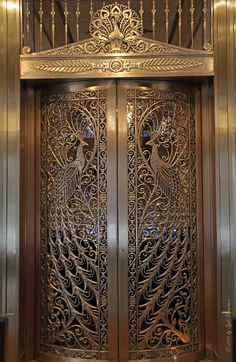 """steampunktendencies: """" The Peacock Door Located at the Palmer Hotel, in the Loop, Chicago. Photos: Jyoti Srivastava """""""