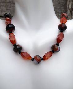 Carnelian Necklace, Bead Necklace Women, Gemstone Necklace, Necklace Carnelian, Gift for Her, Women Necklace, Carnelian