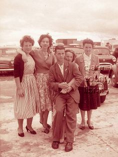 Group in Lahinch. Patsy Torpey (front) with a group of women in Lahinch.