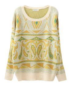 Knitted Patterns Round Neckline Pullover