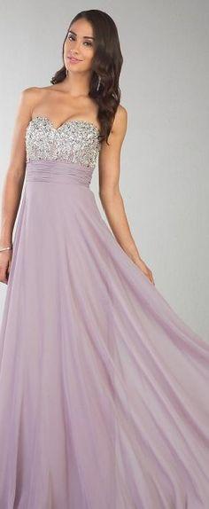 Fashion A-Line Sleeveless Chiffon Natural Lavender Prom Dress lkxdresses03215knj #longdress #promdress