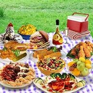 Picnic Recipes - potato salad, cole slaw, pasta salad, baked beans  add fried chicken, watermelon  ice-cold lemonade  youre all set!