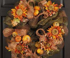 DIY door decorations wreath flowers