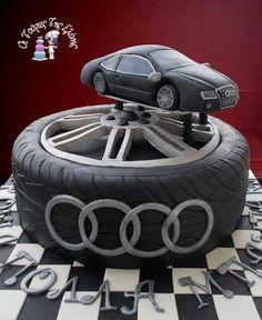 Audi car cake.