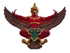 bird thai mythology: Garuda en Tailandia  Foto de archivo