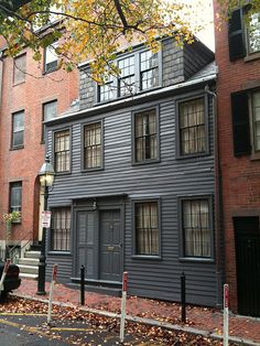 Oldest surviving house built by African-Americans on Pinckney Street, Beacon Hill, Boston