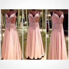 Mother of the bride or mother of the groom blush gown.