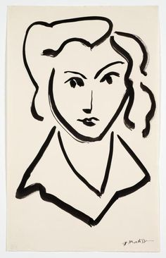 Head of a Woman, Matisse. Seen on September at an exhibition of Matisse's drawings curated by Ellsworth Kelly at Mt. Matisse Drawing, Matisse Paintings, Matisse Art, Henri Matisse, Ellsworth Kelly, Painting Inspiration, Art Inspo, Art Sketches, Art Drawings