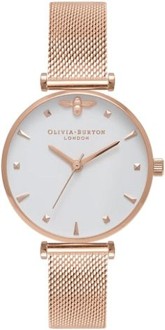 3f7218536 See the Women's Olivia Burton Queen Bee Mesh Strap Watch, Browse women's Rose  Gold Watches.