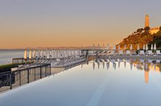 Sunset on the French Riviera from the Club Dauphin.