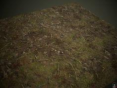 "PBR Forest surface texture in Substance Designer, Arseniy ""SenChi"" Smirnov on ArtStation at https://www.artstation.com/artwork/e1qY3"