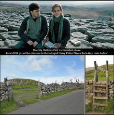 Site #48 of Book 4 [http://harrypotterplaces.com/newts-northeastern-england-wizarding-treks/] is a remarkable Limestone Pavement 260 feet above Malham Cove. Memorable Deathly Hallows P1 campsite scenes were shot here. Hiking to the site from Malham village takes about 40 min. The normal tourist route involves CLIMBING 400 IRREGULAR STONE STEPS. Happily, we discovered a BACK-WAY that BYPASSES the STEPS & takes no longer! Tara tested it in 2011 & reports that it is a pleasant, comfortable…