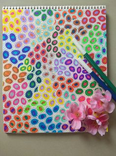 Dots dipped in colours