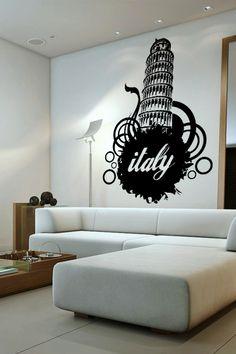 Italy wall decal by WALLTAT.com