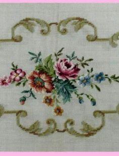 Cross Stitch Borders, Cross Stitch Flowers, Bargello, Paper Flowers, Origami, Design, Embroidery Stitches, Trapper Keeper, Punto De Cruz