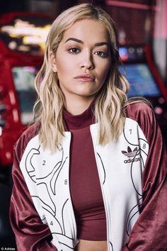 buy popular f9d73 6cd67 Rita Ora unveils her new Adidas Originals collection in arcade shoot