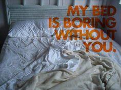 Empty bed love quote @Juliana DeBitetto