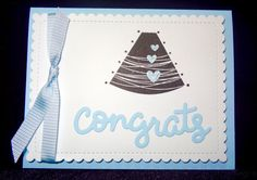 Baby Boy Shower Card Expecting Card Pregnancy Card by Nuts4Stampin