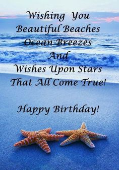 Birthday Messages Sayings Posters Happy Beach Images
