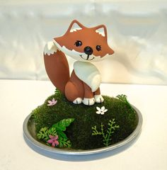 Woodland Fox Cake Topper  Custom Cake Topper  by WorkofWhimsy, $65.00