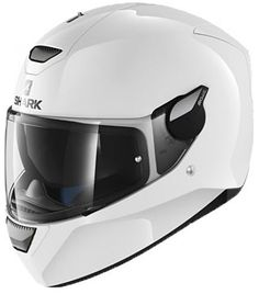 Buy the Shark D-Skwal Helmet Blank WHU - White from GetGeared: Feedback Rating - Shop now Shark Motorcycle Helmets, Shark Helmets, Motorcycle Outfit, Evo, Computational Fluid Dynamics, Sound Proofing, Lining Fabric, Ventilation System, Motorcycle Helmets