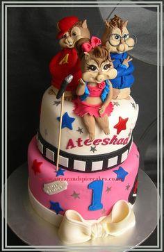 Super 14 Best Alvin The Chipmunks Cakes Images Alvin The Chipmunks Funny Birthday Cards Online Alyptdamsfinfo
