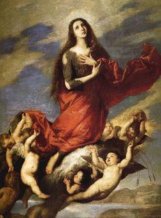 """Assumpció de Maria Magdalena       José de Ribera  """"El españoleto""""(1591-1652)"""