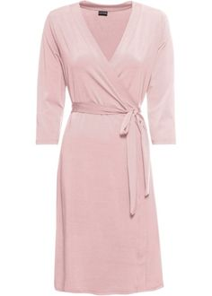 A v-neck dress with a flattering wrap bodice. Woodland Party, V Neck Dress, Mix Match, Elegant, Pale Pink, Bodice, Wrap Dress, Celebrities, Outfits
