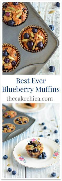 Best Ever Paleo Blueberry Muffins Recipe Savory Breakfast, Sweet Breakfast, Breakfast Recipes, Health Breakfast, Paleo Blueberry Muffins, Blue Berry Muffins, Sweet Recipes, Healthy Recipes, Healthy Foods