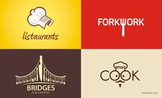 70 Creative Restaurant Logo Design inspiration for you. Read full article: http://webneel.com/logo-design-ideas-restaurant | more http://webneel.com/logo-design | Follow us www.pinterest.com/webneel