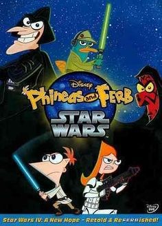 Phineas und Ferb Star Wars * Check out this great product. Star Wars Quotes, Star Wars Humor, Disney Movies, Disney Pixar, Disney Word, Star Wars Dvd, Phineas Et Ferb, Animation Programs, Star Wars Personajes