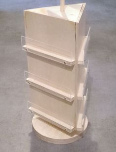 A rotating card stand for gift and flower cards. This model of the display mill is specially designed for cards of cm. Craft Fair Displays, Market Displays, Pegboard Display, Craft Stalls, Mini Blinds, Craft Show Ideas, Craft Storage, Jewellery Display, Craft Fairs