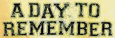 A Day To Remember Album Cover Typography