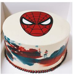 Spiderman Torte, Spiderman Birthday Cake, Avengers Birthday, Superhero Cake, 4th Birthday, Birthday Ideas, Pretty Cakes, Cute Cakes, Pastel Marvel
