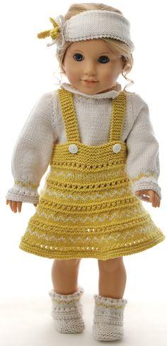 Poppenkleding-breien - Uw pop zal schitteren in haar nieuwe kleding