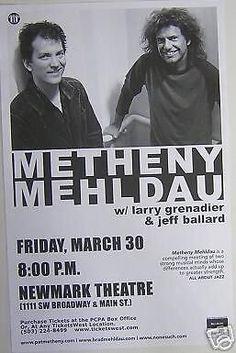 Pat Metheny Brad Mehldau Original Portland Oregon Jazz Concert Tour Gig Poster