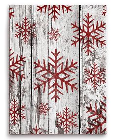 Look at this Snowflakes Wood Wall Art on #zulily today!