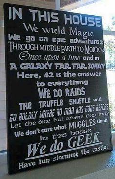 We Do Geek Star Wars, Star Trek, Fairy tales, Princess Bride, Harry Potter, Lord of the Rings, etc