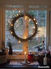 Wheel from a bike with Christmas lights on - perfect:-)