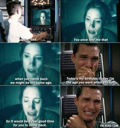 Interstellar Is Not Just A Sci-fi Movie Its Also A Emotional Movie .This Scene I… – All Pictures Best Sci Fi Movie, Best Movie Lines, Movie Tv, Movie Theater, Theatre, Sad Movies, Sci Fi Movies, Series Movies, Foreign Movies