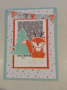 Stampin up foxy friends Christmas card