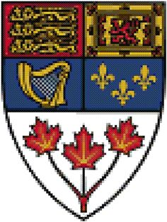 Canadian Shield cross stitch pattern Canada 150, Quilting Ideas, Needlepoint, Cross Stitch Patterns, Needlework, Projects To Try, Quilts, Embroidery, Crafts