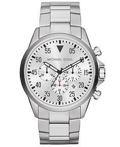 Michael Kors Watch, Men's Chronograph Gage Stainless Steel Bracelet 45mm MK8331 - Men's Watches - Jewelry & Watches - Macy's