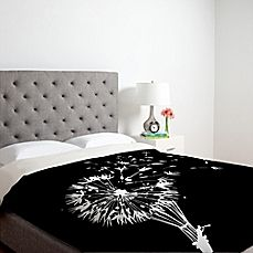 image of DENY Designs Budi Kwan Going Where the Wind Blows Duvet Cover in Black