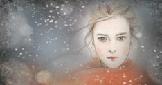 Neve. Pen + soft pastels + Photoshop. #illustration #art #poetry Watercolor Portraits, Watercolor And Ink, Female Art, Illustrators, Illustration Art, Photoshop, Soft Pastels, Drawings, Avatar
