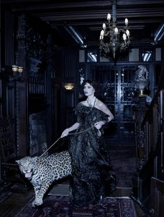 Georgina Chapman as 'Marchesa Luisa Casati' - Chapman is the co-founder of the fashion label, Marchesa - Harper's Bazaar - @~ Watsonette