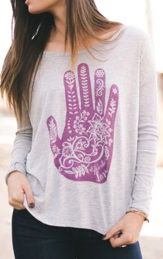 """Look what's back at #Sevenly! The popular """"Henna Hand"""" design is now available again in NEW styles & colors. As always, $7 of each item goes to charity!"""