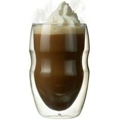 It's GLASS! Insulated cups without worry of chemicals in your cocoa.